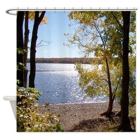 lake shower curtain lake view scenery shower curtain by naturewildlifeartgifts
