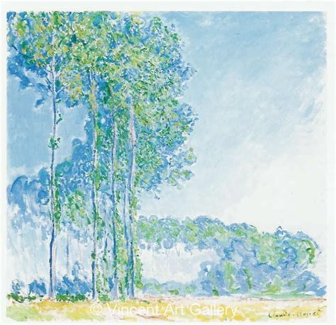 Poplars by Claude Monet - Oil Painting Reproduction