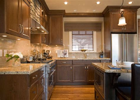 stylish dark brown cabinets kitchen suitable