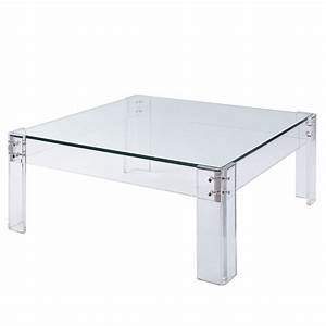 the best of both worlds acrylic base with a inset glass With acrylic and glass coffee table