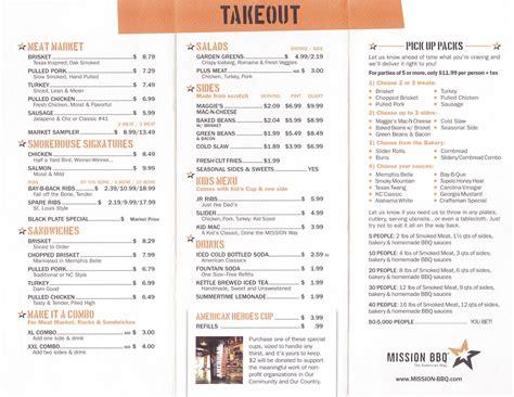 Our menu will surely satisfy your appetite! Whereisthemenu.net   Mission BBQ - Clarksville, TN 37040