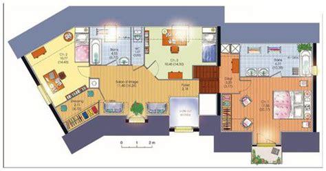 plan maison plain pied 4 chambres garage villa contemporaine dé du plan de villa