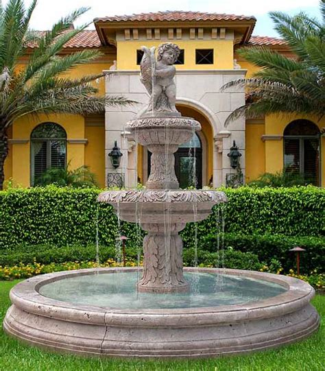 landscaping with water fountains water fountains front yard and backyard designs