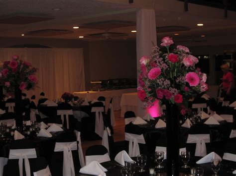 cocoonpatt black white and pink wedding decorations