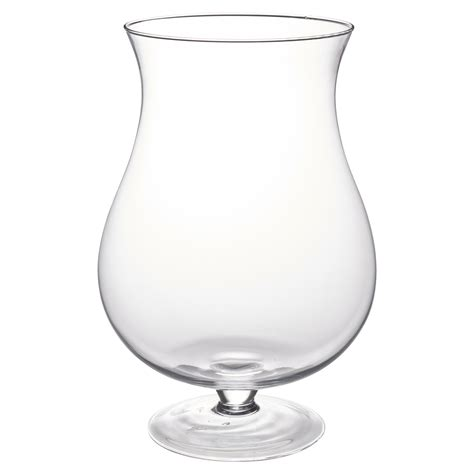 Large Table Vase by Large Clear Glass Vase Footed Centrepiece Decorative