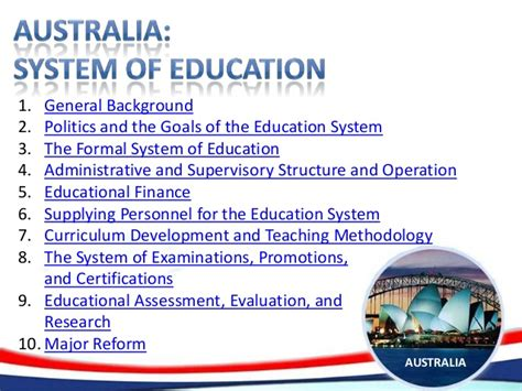 australia system  education