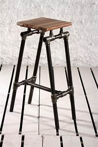 Möbel Aus Rohren : steampunk industrial upcycled pipe bar stool black ideas ~ Michelbontemps.com Haus und Dekorationen