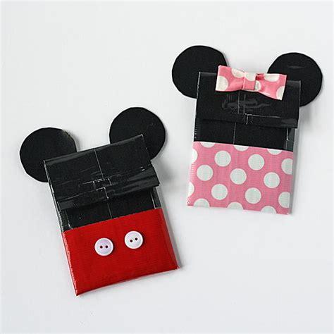 disney inspired duct tape diy gift card holder