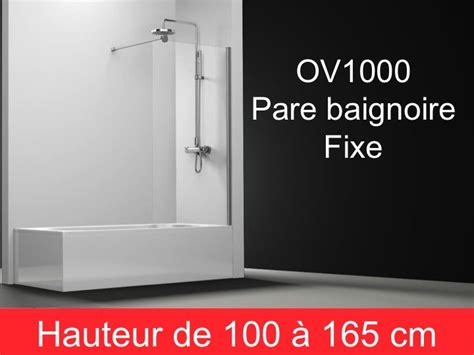 Pare Baignoire Fixe 70 Cm by Parois De Douche Largeur 60 Pare Baignoire Panneau Fixe