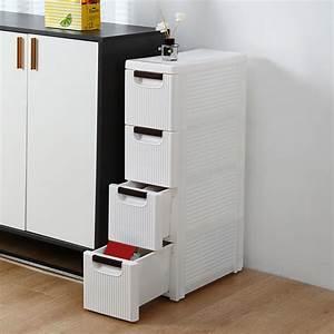 Robot-gxg, Slim, Bathroom, Storage, Cabinet, -, Slim, Rolling, Cabinet, With, Drawers