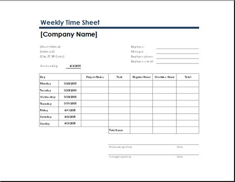 ms excel time sheet templates word template templates