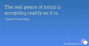 The real peace ... Swami Premodaya Quotes