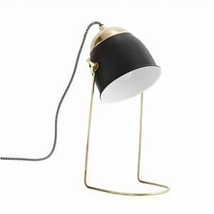 Lampe De Chevet Dorée : madam stoltz lampe de chevet noir mat et dor luminaires ~ Dailycaller-alerts.com Idées de Décoration