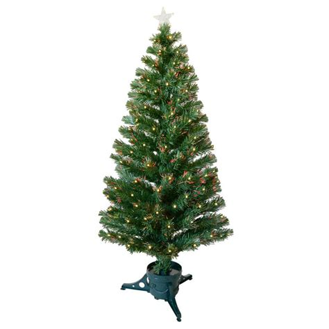 5ft 150cm beautiful green fibre optic christmas tree with warm white led tips