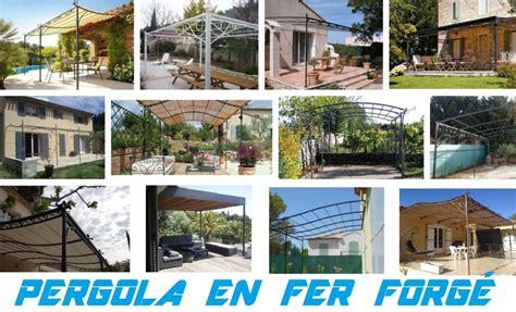 pergola en bois aluminium ou fer forg design pas cher toiture de terrasse tonnelle autoporte