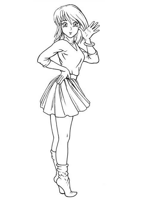 disegno di una ragazza da colorare disegno da colorare ragazza cat 8825