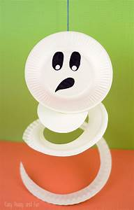 paper plate ghost paper plate crafts for easy