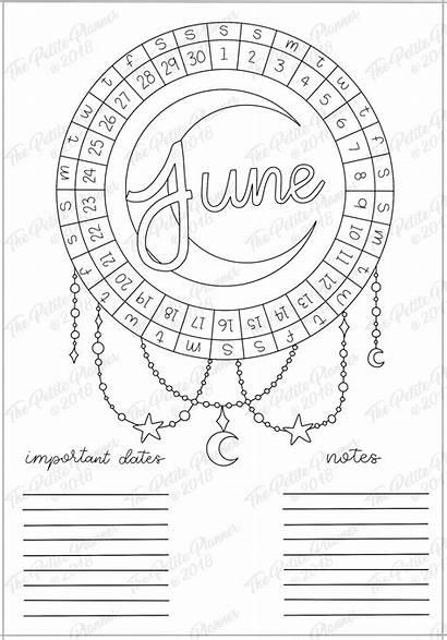 June Mood Tracker Bullet Journal Printable Setup