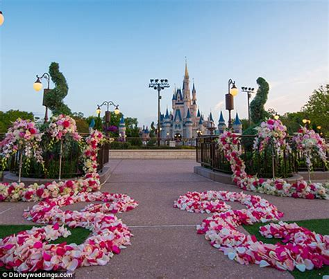 Wedding ceremonies in Disney World with Cinderella Castle in the backdrop   Daily Mail Online