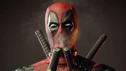 Deadpool Wallpapers Guns Smoke Smelling 4k Cool