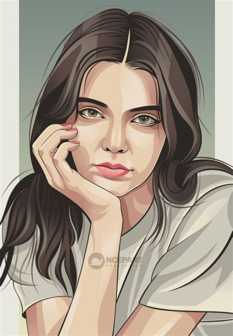Kendall Jenner Vector Portrait By Ncepart28 Vector Style