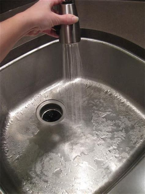 clean stainless steel kitchen sink 1000 images about clean a stainless steel sink on