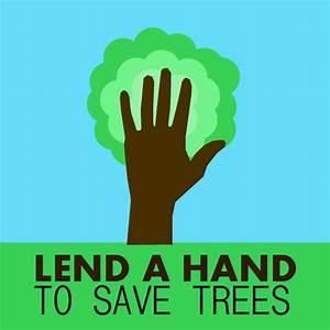 Save trees slogan, cool environmental poster ...