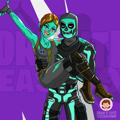 draw ghoul  skull trooper fortnite season  drawing tutorial draw  cute