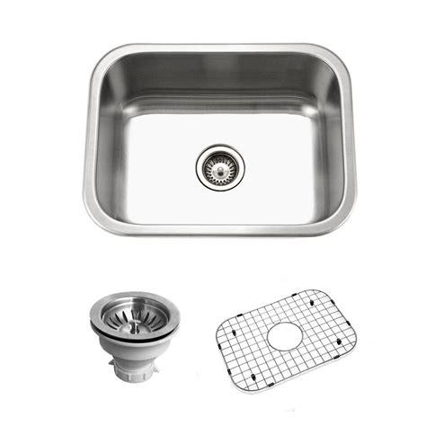 drop in kitchen sinks single bowl houzer belleo series drop in stainless steel 23 in single 9622