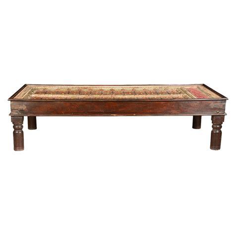 "Turkish Tiles Mango Wood 71"" Handcrafted Coffee Table"