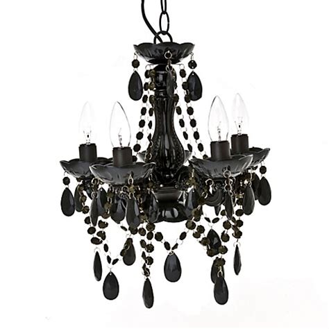 Small Black Chandelier by Small 5 Light Chandelier L In Black Bed Bath