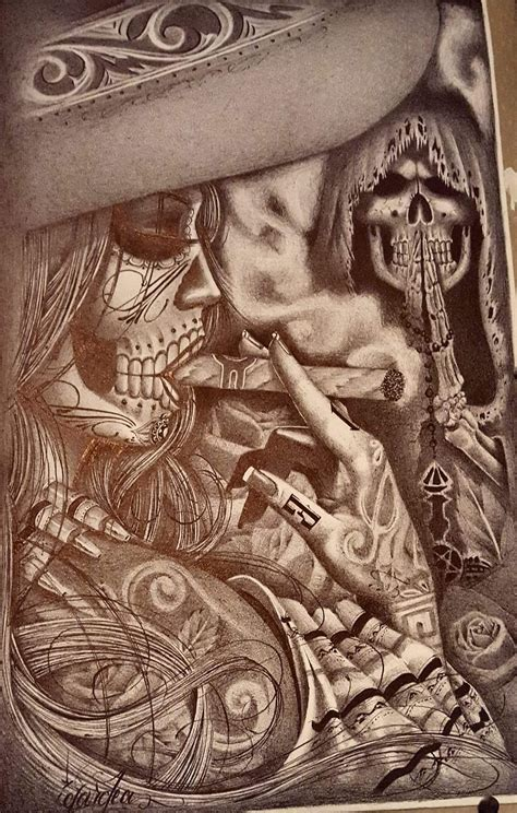 Pin by Sarah Gallegos on Lowrider prison arte   Chicano ...