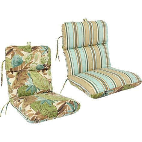 walmart outdoor cushions for chairs reversible deluxe outdoor chair cushion colors