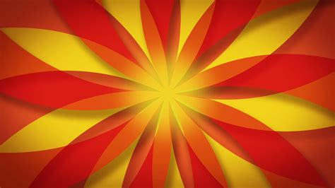 Red Orange And Yellow Kaleidoscopic Abstract Pattern
