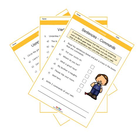 grammar year 2 worksheets english ks2 melloo