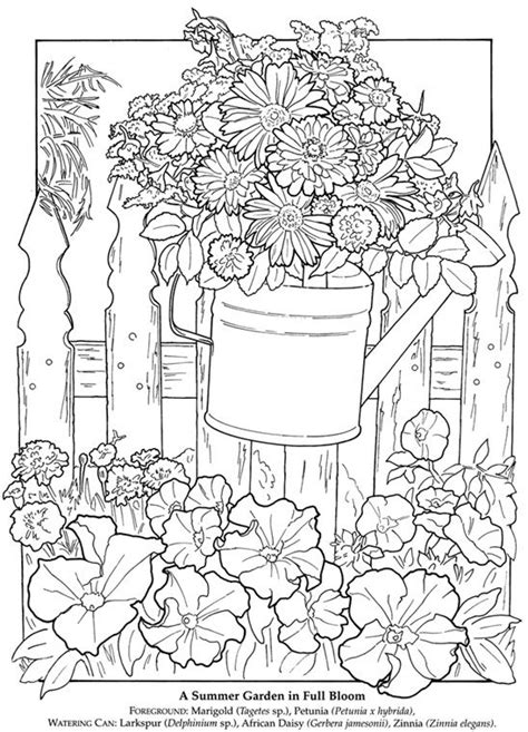 adult coloring book garden dover publications a printable flower garden pic to