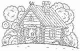 Coloring Cabin Log Countryside Cabins Printable Colouring Template Wood Hut Traditional Illustration Rustic Coloringhome Popular Ages Looking Templates Bigstock sketch template