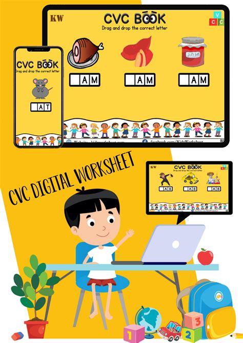 digital cvc words worksheet google