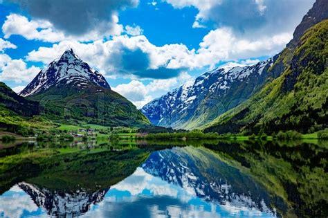 Beautiful Nature Norway Natural Stock Image Colourbox
