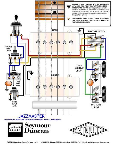 seymour duncan jazzmaster wiring diagram jazzmaster 1963 wiring diagram offsetguitars com