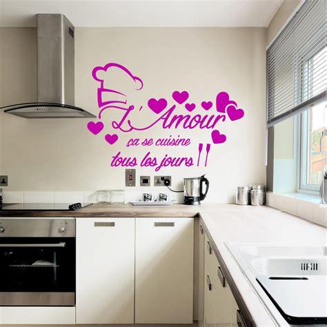 sticker citation l amour 231 a se cuisine stickers citations fran 231 ais ambiance sticker