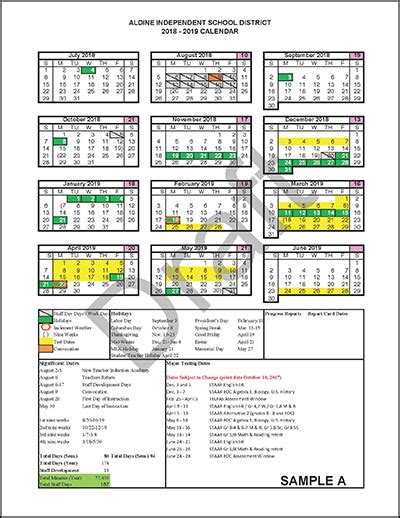comment calendar aldine independent school en