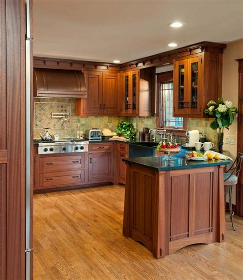 arts and crafts style kitchen cabinets arts crafts kitchen with ellsworth door craftsman 9043
