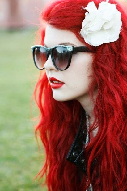bright red hair dye permanent fashion belief
