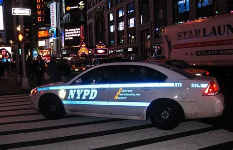 Police Car, Nypd, New York, Road
