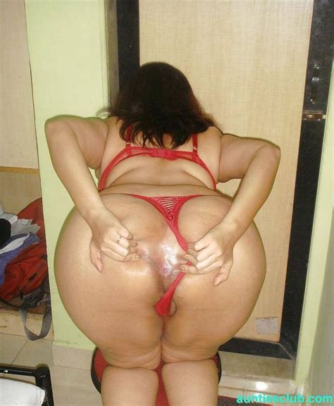 Hyderabad Big Boobs Ass Red Bra Panty Aunty Naked Photo
