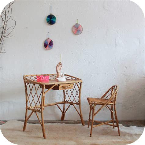 bureau rotin c251 mobilier vintage bureau rotin b atelier du petit parc