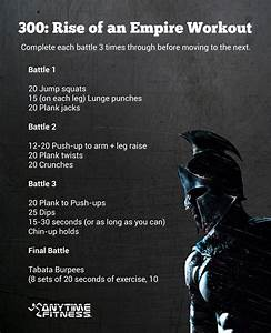 300: Rise Of An Empire Bodyweight Workout