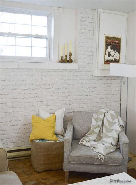 brick  interior wall   day diy passion