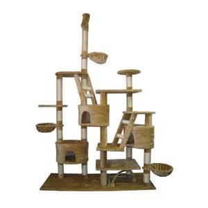 cat towers for shop go pet club 106 in beige faux fur 18 level cat tree